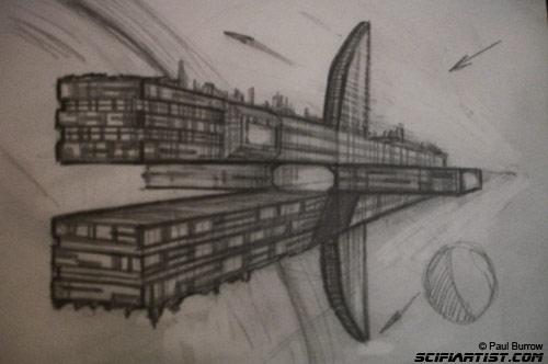 Space Cruiser Sketch