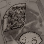 Stewie Griffin & Pizza Sketch