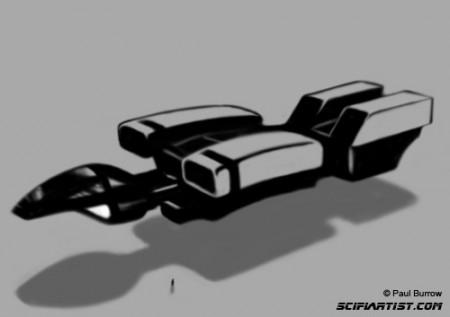 Space cruiser digital sketch
