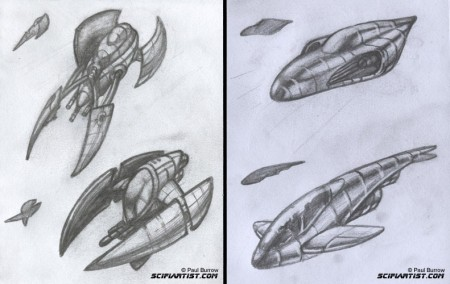 4 vehicle design sketches