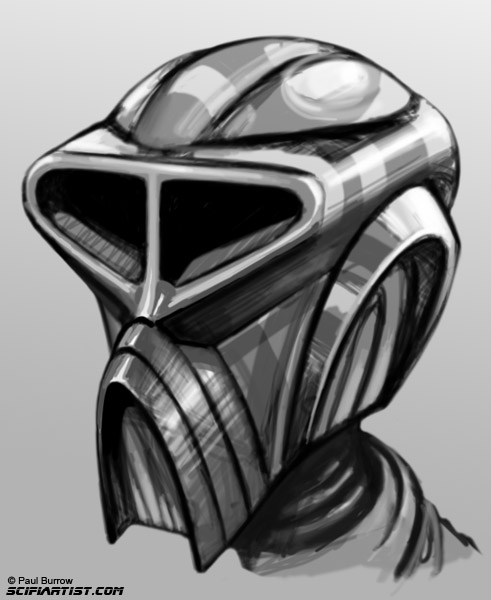 Robot head sketch
