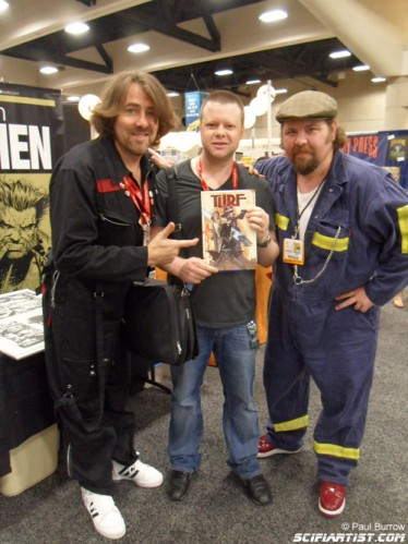 Paul Burrow, Jonathan Ross & Tommy Lee Edwards at San DIego Comic-Con 2011