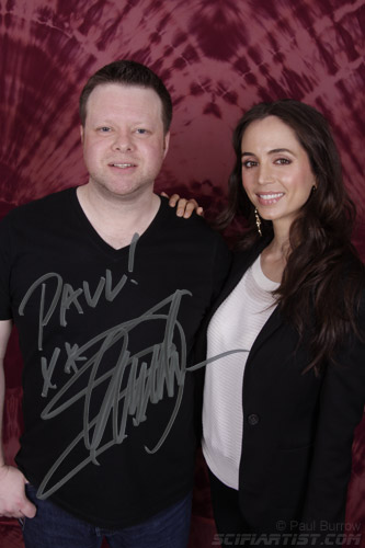 Paul Burrow with Eliza Dushku