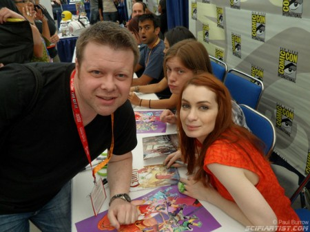 Paul Burrow and Felicia Day