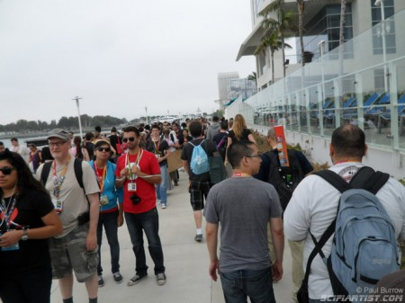 Geek & Sundry queue in front of me SDCC 2012
