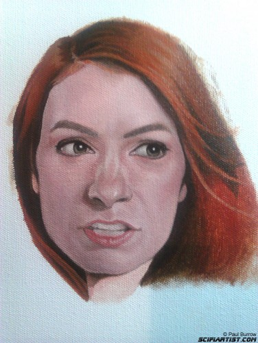 Felicia day Painting - work in progress 1