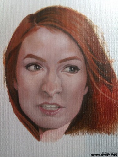 Felicia Day painting update 2
