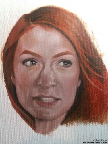 Felicia Day painting 3rd update