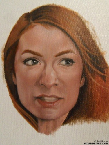 Felicia Day painting 4th update