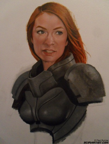 Felicia Day Mass Effect painting 5th update