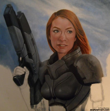 Felicia Day Mass Effect painting update 6