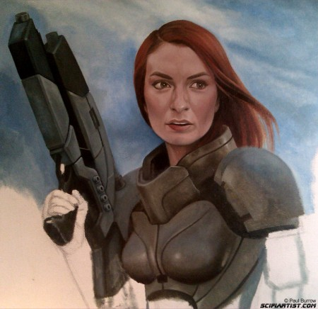Felicia Day Mass Effect painting update 7
