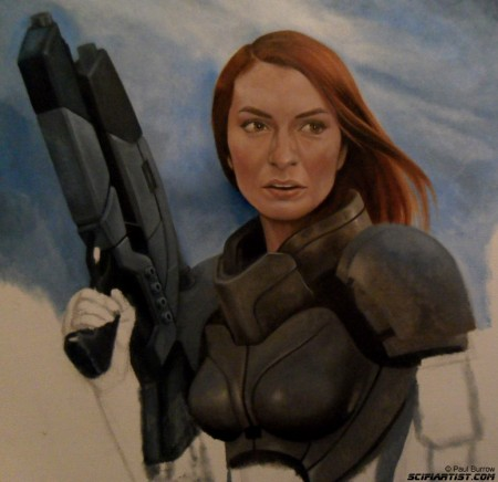 Felicia Day Mass Effect painting update 8