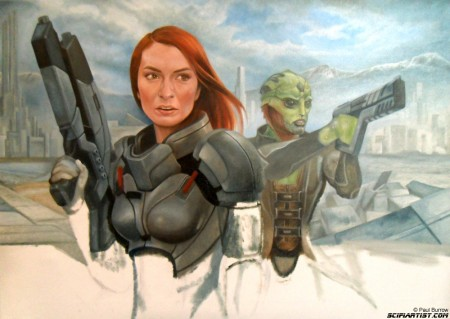 Felicia Day Mass Effect painting update 10