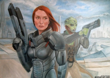 Felicia Day Mass Effect painting update 12