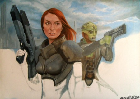 Felicia Day Mass Effect painting update 9
