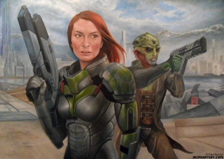 Felicia Day Mass Effect painting update 13