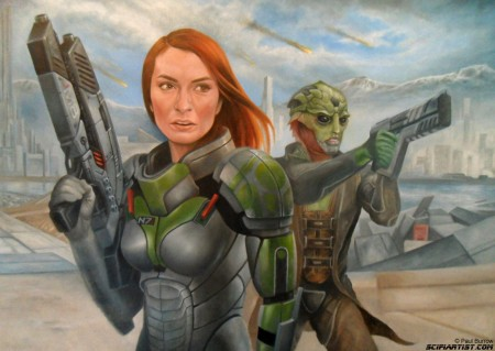 Felicia Day Mass Effect painting update 14
