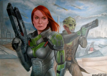 Felicia Day Mass Effect painting update 15
