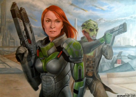Felicia Day Mass Effect painting update 16