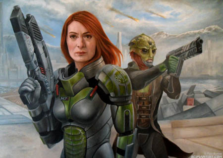 Felicia Day Mass Effect oil painting