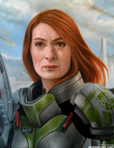 Felicia Day Shepard oil painting close up