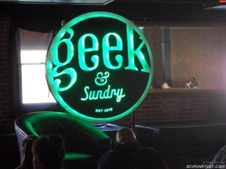 Geek & Sundry light up logo