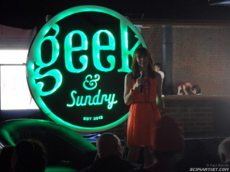 Felicia Day entertaining the crowd