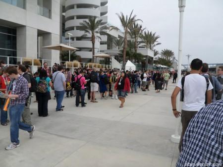 The queue continues