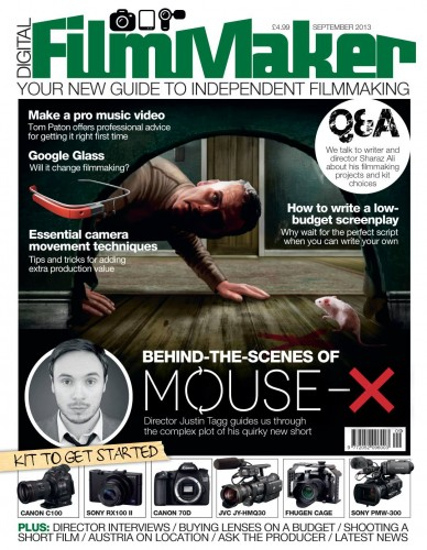 Mouse-X cover Digital FilmMaker magazine September 2013