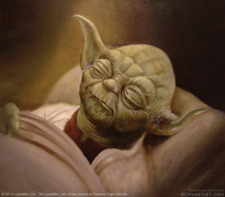 Yoda oil painting for Star Wars The Card Game