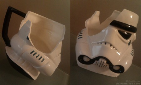 Stormtrooper mug. A casualty of the move!
