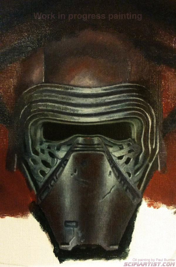 Force Awakens First Order oil painting work in progress