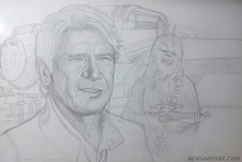 Han & Chewie sketch