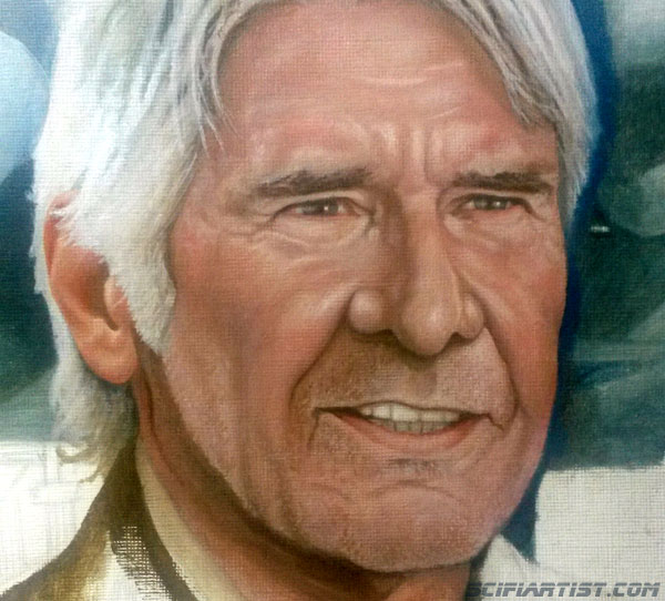Han Solo Oil Painting work in progress