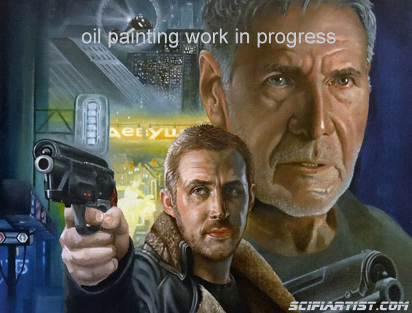 Blade Runner 2049 oil painting work in progress 2