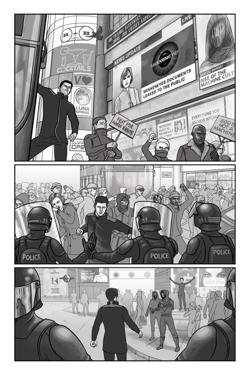 Mekkeneyes book 2 page 3 artwork