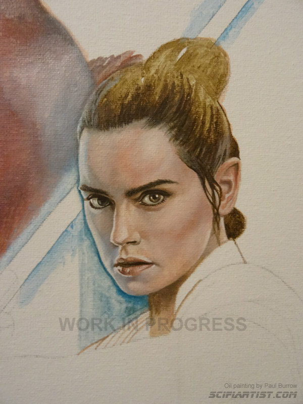 Daisy Ridley oil painting wip