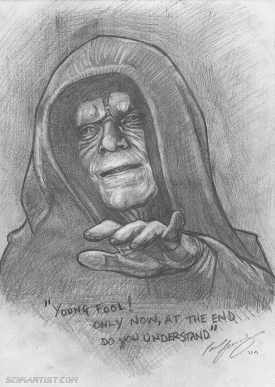 Palpatine pencil sketch