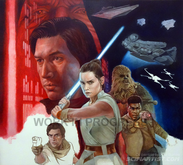 Star Wars Episode 9 oil painting work in progress