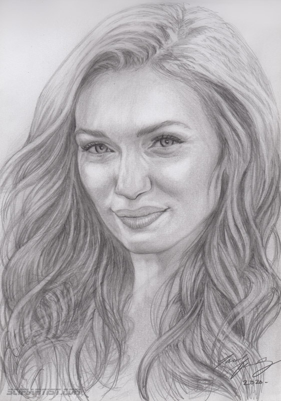 Eleanor Tomlinson pencil sketch