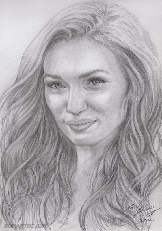Eleanor Tomlinson pencil sketch