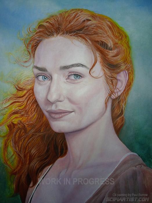 Eleanor Tomlinson oil painting work in progress