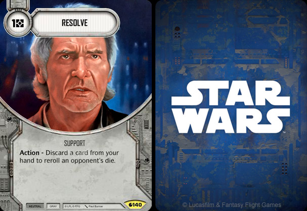 Resolve - Han Solo oil painting by Paul Burrow - Star Wars Destiny - Spirit of Rebellion ©FFG