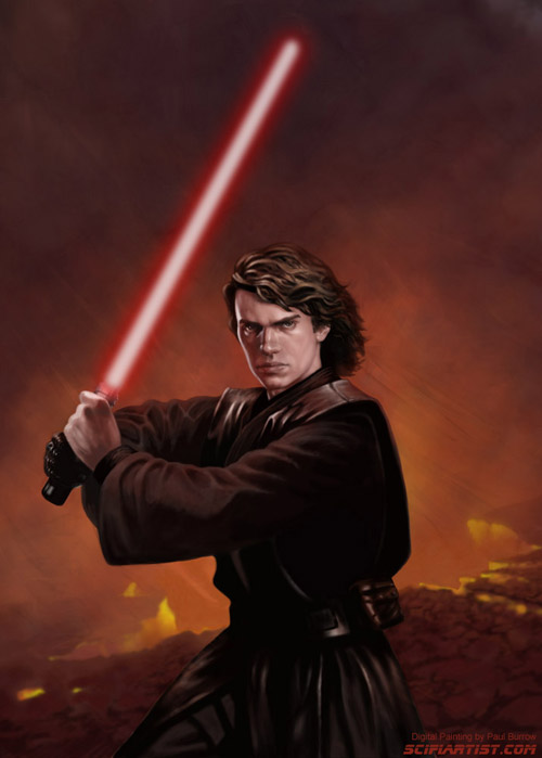Anakin Skywalker digital painting by Paul Burrow