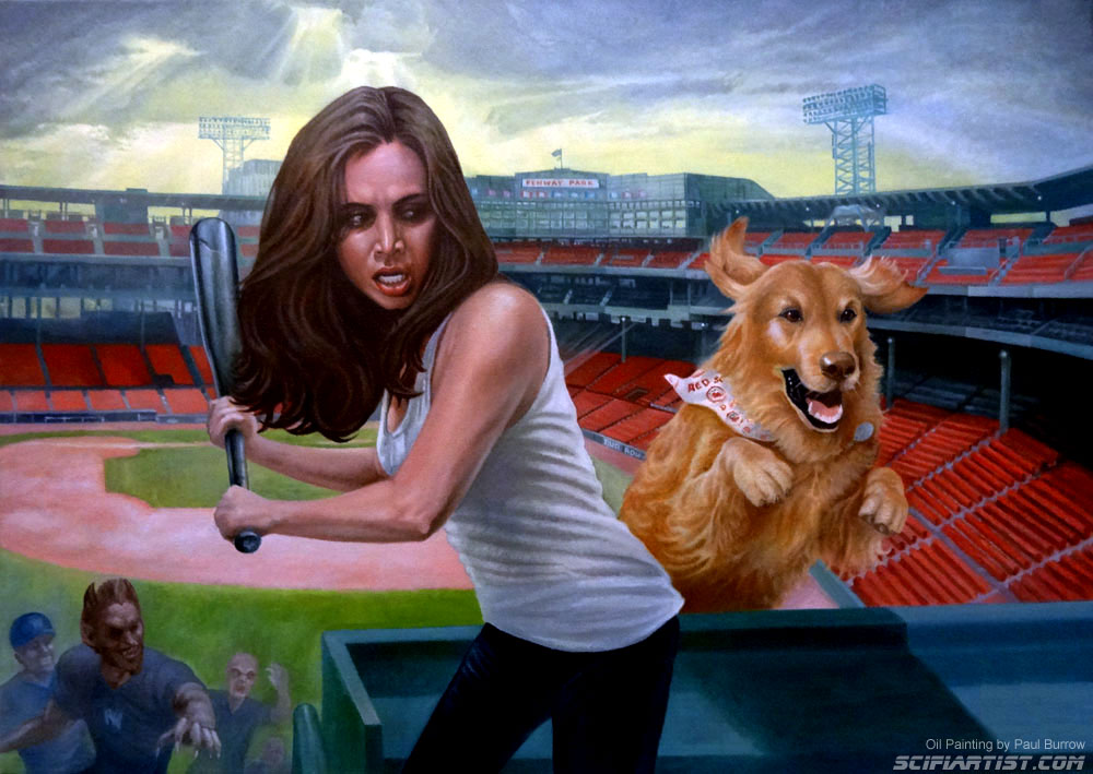 Faith at Fenway Park oil painting by Paul Burrow