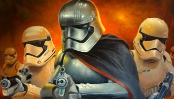 Click to view The Force Awakens Oil Painting