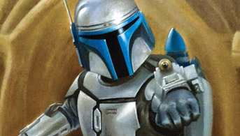 Click to view Jango Fett - Aim Oil Painting
