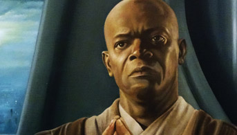 Click to view Master of the Council - Mace Windu Oil Painting