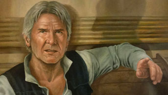 Click to view Han Solo/Son of Greedo Oil Painting